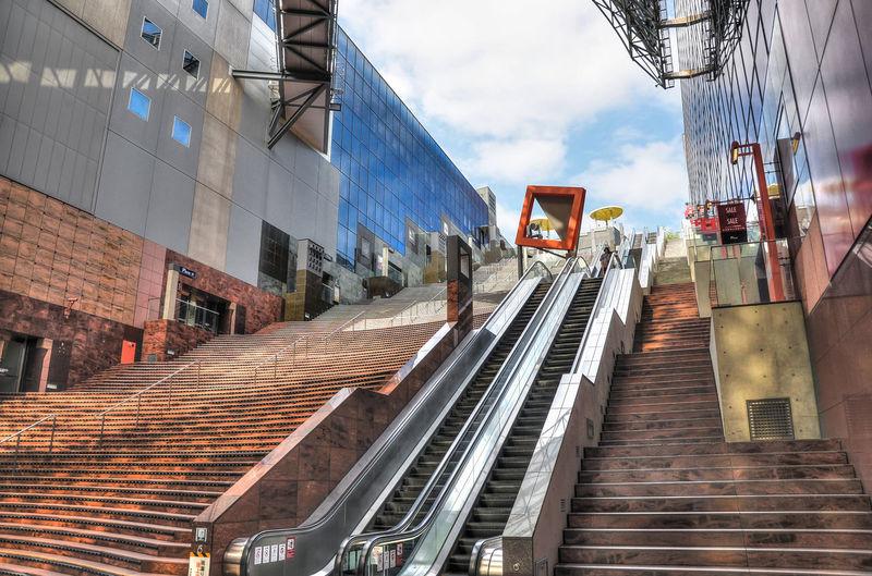 Kyoto, japan - 24 july 2016. major railway station and transportation hub in kyoto. main hale kyoto