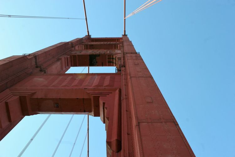 Golden Gate Bridge 2010 Bay Area Photography Famous Landmark Golden Gate Bridge Golden Gate Bridge Arch Golden Gate Bridge Is Red Golden Gate Bridge Towers Completed 1934 Golden Gate Bridge, San Francisco, California Architecture Architecture Details Bridge Bridge - Man Made Structure Bridge Photography Bridge View Building Exterior Built Structure Clear Sky Day Low Angle View No People Outdoors San Francisco Bay Sky
