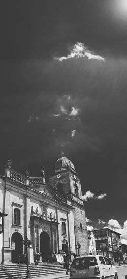 Tunja's Church Architecture Building Exterior Sky Built Structure Cloud - Sky Outdoors City No People Day Happiness Stunning Place Black & White