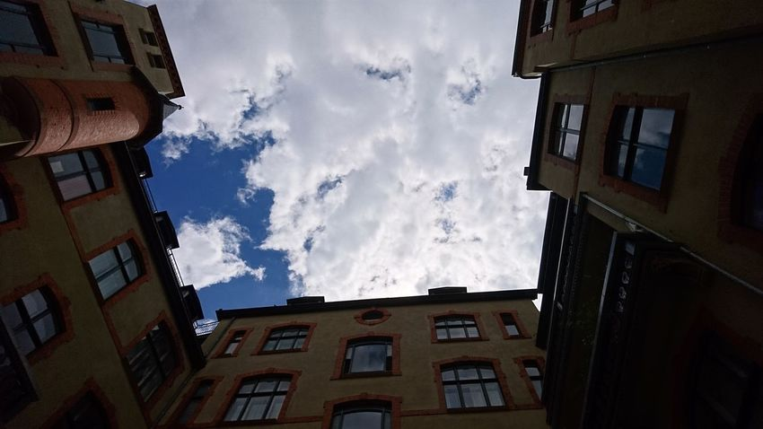 The clouds. Berlin Germany Capital B B Capital Cities  Clouds Clouds And Sky Cloudscape White Blue Cloudy Nature Architecture Backyard Above Sky Dream City Apartment Residential Building Window House Sky Architecture Building Exterior Built Structure Cloud - Sky