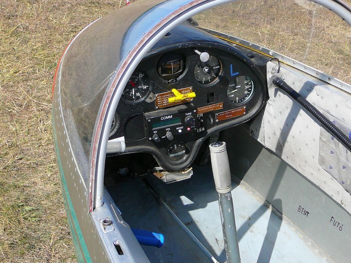 Blanik Cockpit Glider No People Plane