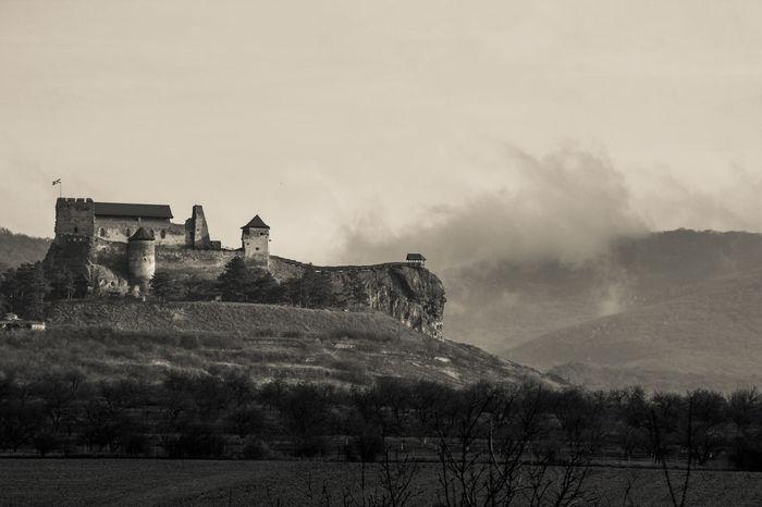 Borsod-Abaúj-Zemplén Castle Boldogkőváralja Cloud - Sky Clouds And Sky Monochrome Mountain