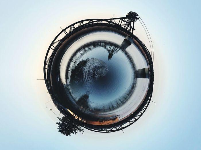 Digital composite image of globe