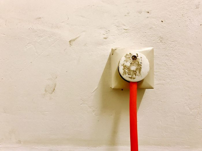 Wall - Building Feature Hygiene No People Built Structure Day Indoors  Close-up Architecture Plug Cabel Socket Wall Socket Architecture Plastic Environment - LIMEX IMAGINE