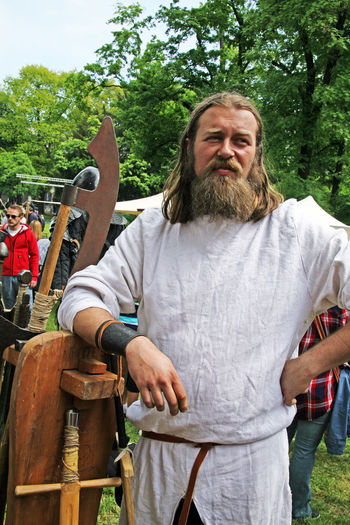 St.George's Day,11,armourer,Zagreb,Croatia,EU, 2016. Armourer Axes Croatia Day Eu Man Outdoors Portrait St.George's Day Swords Swordsman Weapons Young Man Zagreb