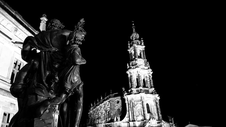 City Statue Sculpture Illuminated Arts Culture And Entertainment Politics And Government Sky