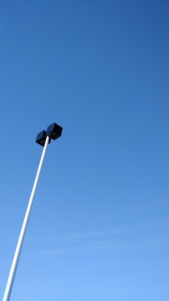 Low Angle View Of Modern Street Lamp