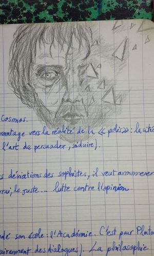 Philosophy Drawing Philosopher Face Triangle