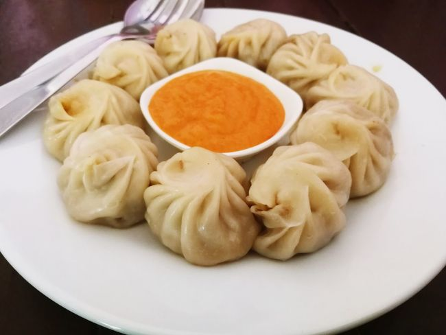 momos Momos Food Food And Drink Indoors  No People Dumpling  Chinese Dumpling Spice Steamed  Healthy Eating Dim Sum Freshness Ready-to-eat Close-up Chinese Food Ingredient Plate Day