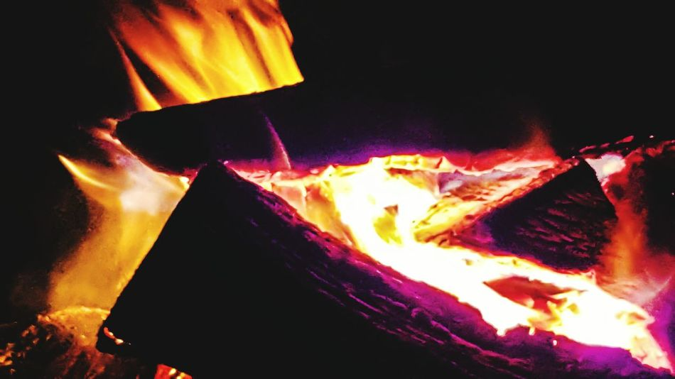 Fire Pit Evidence Warmth In The Night Flame Burning Wood Self Destruction Darryn Doyle Darkness And Light