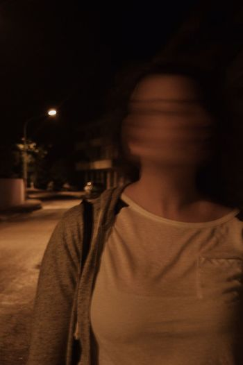 One Person Real People Young Adult Night Lifestyles Young Women Night Lights Nightphotography Shadow Streetphotography Friends Movement Long Exposure Dazed Confused Women Illuminated Close-up People