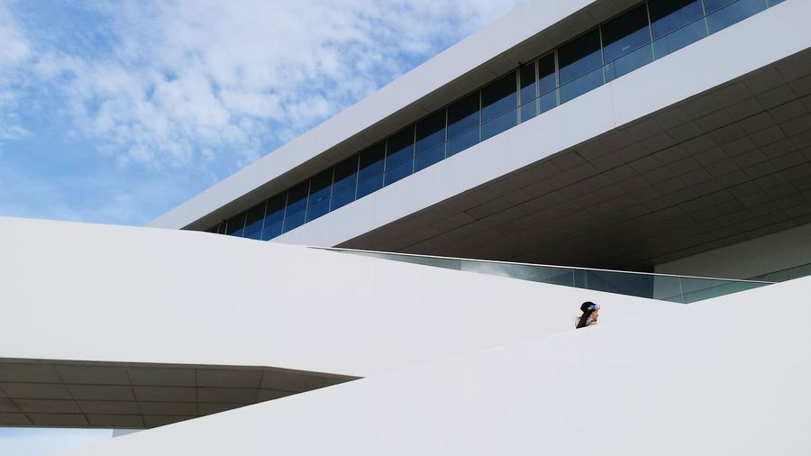 Architecture Modern Architecture City Life City Architectural Photography Women Hat Surfaces And Textures White Background Architectural Modern Building Minimalist Minimalism EyeEm Best Shots