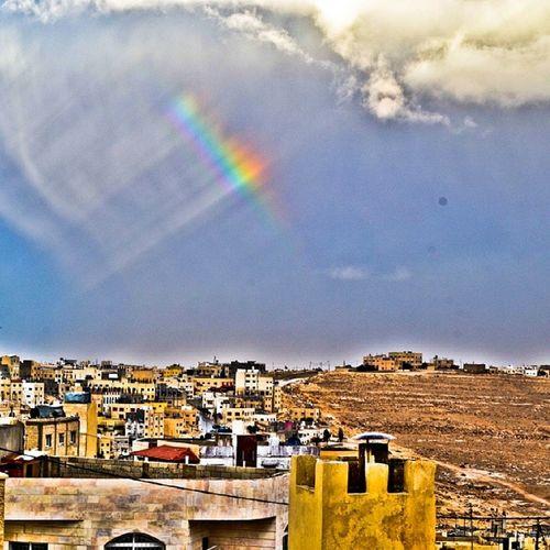 good morning rainbow Rainbow Gokkusagi قوس_قوح Weather clouds rain instagram instanature nature beauty naturebeauty beautyofnature beautyofearth earth amman jordan
