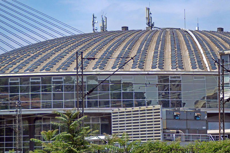 Belgrade Fair Big Dome is 109 meters wide and it is the biggest dome on the world made from prestressed concrete Architecture Beton Building Building Exterior Built Structure Construction Industry Day Dome Glass - Material Industry Modern No People Office Building Exterior Outdoors Pattern Sky