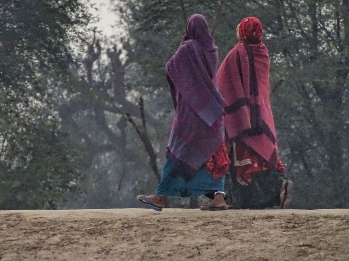 Pink Color Outdoors People Adults Only Women Adult Togetherness Only Women Day EyeEm Best Shots EyeEmNewHere Rural_living Ruralphotography RuralIndia