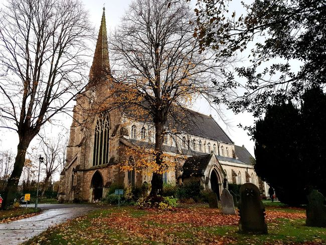 Church Church Architecture My Best Travel Photo Outside Photography Overcast Weather ❤ Railway Village Swindon Railway Morning EyeEm Selects Tree Sky Building Branch Autumn Mood