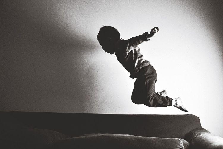 Kid flying