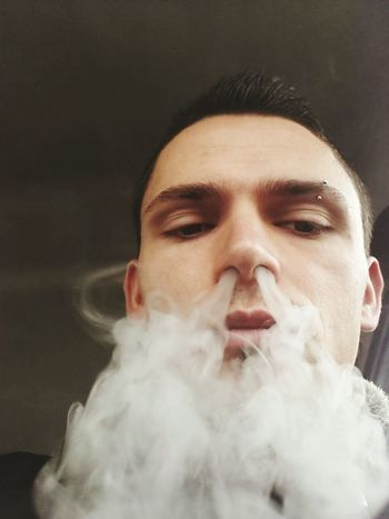 Smoke - Physical Structure Close-up Portrait One Man Only HoHoHo🎅