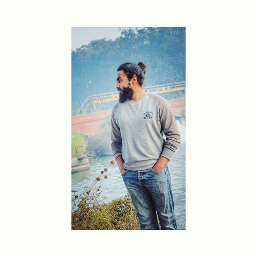 Topbun Young Adult Model Singhbeard Outdoors Only Men Beard Bunslifestyle