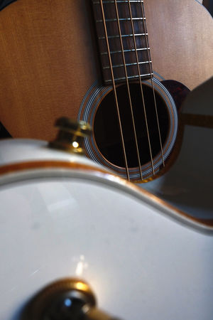 Acoustic Guitar Classic Music Close Up Gretsch Gretsch Guitars Guitar Guitar Strings Indoors  Martin Guitar Music Music Musical Instrument Musical Instrument String No People Rock Music Vintage Guitar