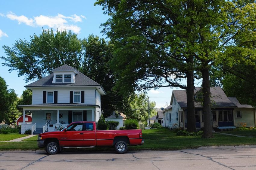 Visual Journal June 2017 Thayer County, Nebraska Architecture Building Exterior Built Structure Camera Work Day FUJIFILM X-T1 House My Truck Nebraska Neighborhood No People Outdoors Photo Diary Red Truck Residential Building Rural America Rural Life Rural_living Sky Small Town Small Town America Small Town Stories Transportation Tree Visual Journal