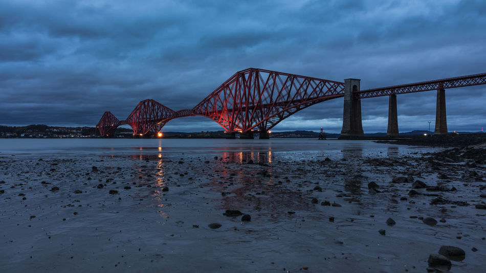 Edinburgh Firth Firth Of Forth FirthOfForth Scotland Architecture Bay Bridge Bridge - Man Made Structure Built Structure Cloud - Sky Connection Dusk Engineering Nature No People Outdoors River Sky Transportation Travel Travel Destinations Water