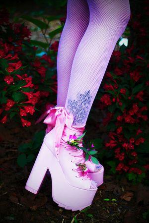 Ballet Bae Platforms by Y. R. U. Modeled by Simone. YruShoes ShoePorn Platform Shoes Pink Shoes Shoe Fetish Flowers The Fashionist - 2015 EyeEm Awards
