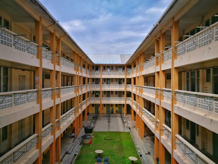 Architecture Built Structure Palace History Sky School College University Dorm Hostel Boys Students Diploma Degree Studying Symmetry