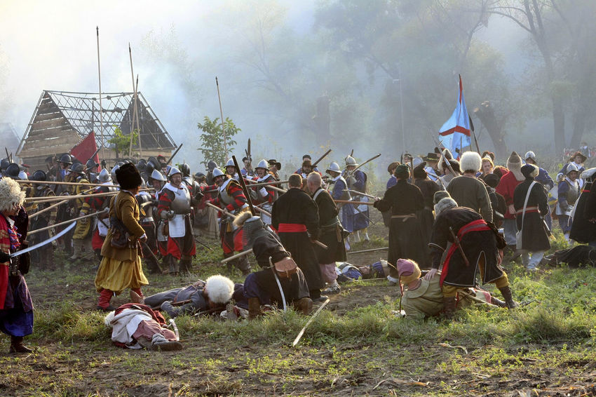 Battle Battlefield Crowd Historical Reconstruction History Large Group Of People Leisure Activity Old Weapon Old Weapons Outdoors People Real People Reconstruction Group Soldiers Togetherness Ukraine Vintage XVII Century