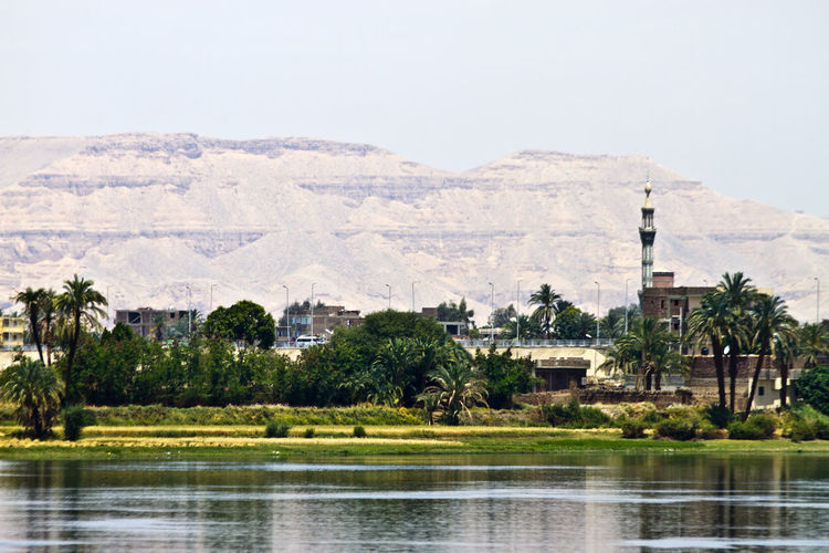 The Nile River Nile River River Riverside River View Building Mosque Egypt Egyptian