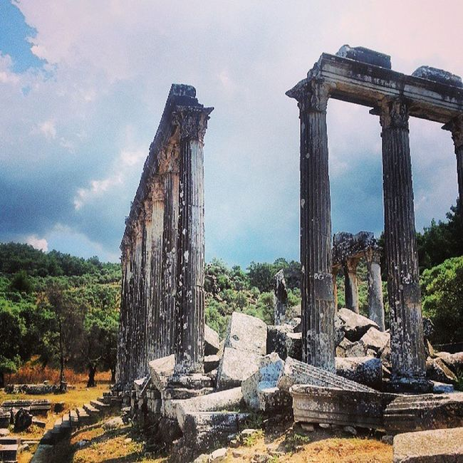 Greek Temple of Zeus in Euromos Turkey