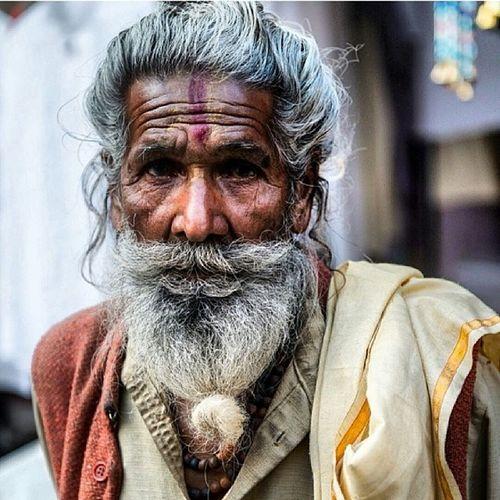 Regram @travislongmore's amazing portrait of a Sadhu in Rajasthan India