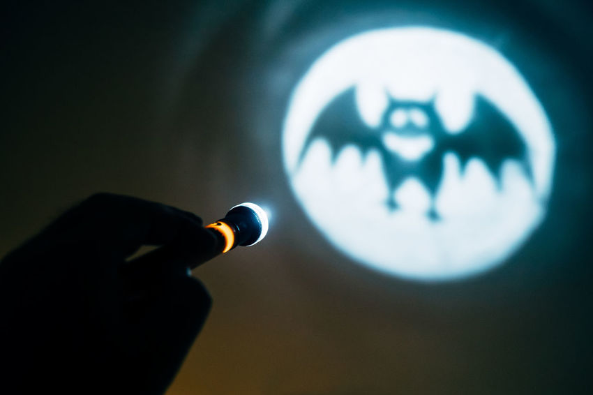 AI Now Night People Men Toy Halloween Illuminated Batman Torch Indoors  Bat Gotham City Close-up Torchlight One Person Human Hand Focus On Foreground Human Body Part Rethink Things