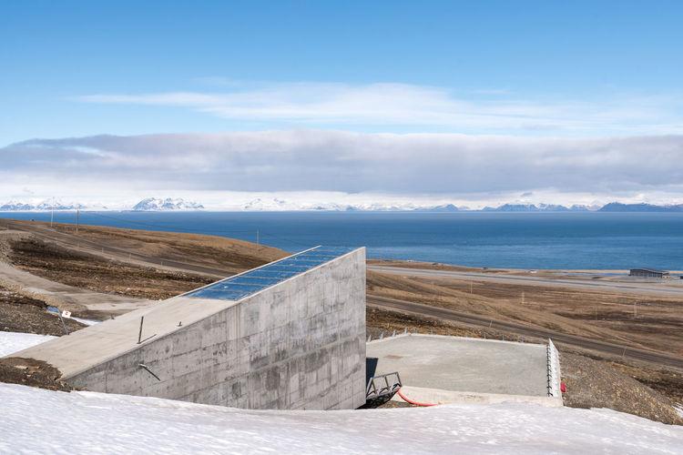Global Seed Vault entrance Elg Global Warming Ice Isolated Longyearbyen Moose Norway Raindeer Abandoned Arctic Day Glacier Global Seed Vault Mining No People North Outdoors Svalbard