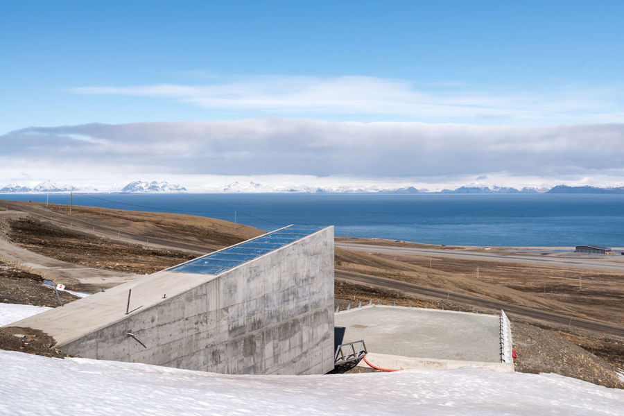 Global Seed Vault entrance Elg Global Warming Ice Isolated Longyearbyen Moose Norway Raindeer Abandoned Arctic Day Glacier Global Seed Vault Mining No People North Outdoors Svalbard