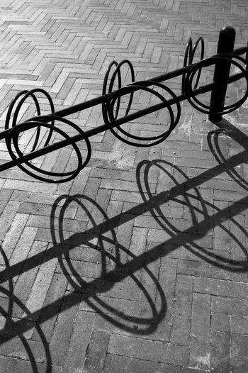 Light And Shadow Shadows Blackandwhite Black And White Black & White Blackandwhite Photography Black And White Photography High Contrast Contrast Bike Rack Copenhagen Denmark Design Bw_collection