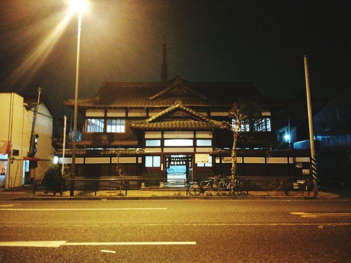 Night Lights Illuminated City Night No People Architecture Street Light Street Senery Yellow Way Road Building Japan
