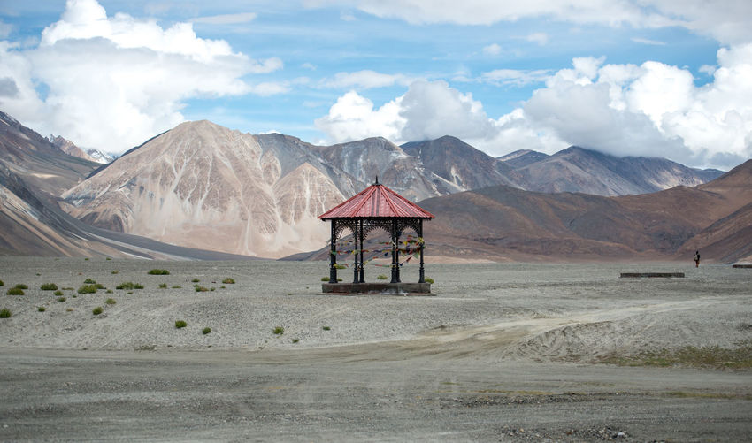 Red pavilion on Pangong Lake, Leh Ladakh , India Abandoned Beauty In Nature Day Mountain No People Outdoors