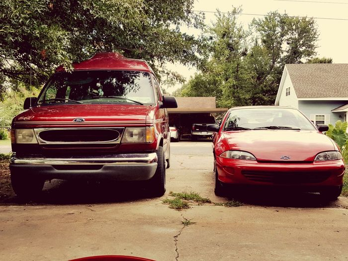 Ford Van and Chevrolet Car