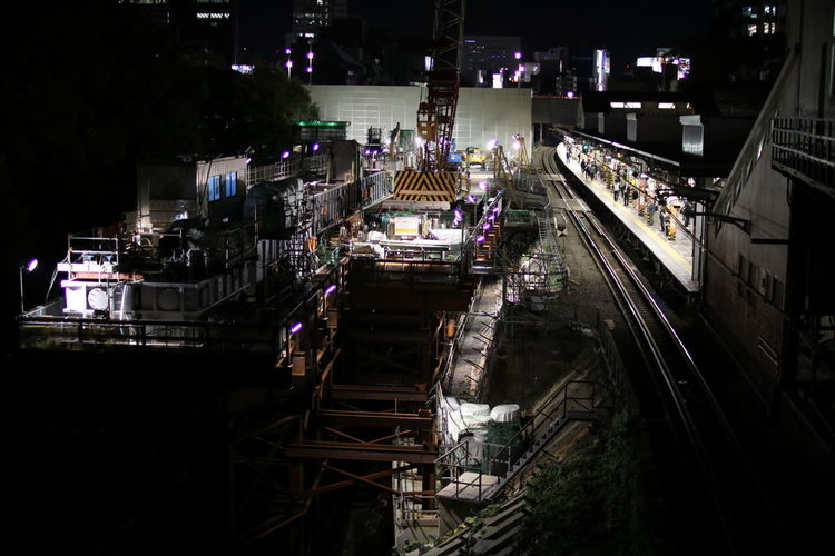 Night Construction Site Connection Snapshots Of Life 工事現場 Station