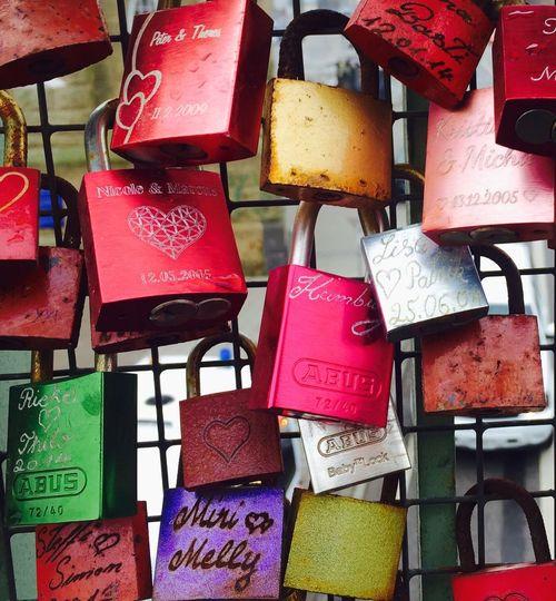Variation Communication Multi Colored Locks Of Love Locks Love Love ♥ Endless Love Fence Colored Colors