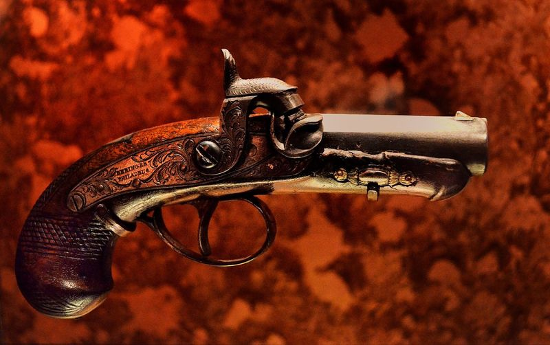 John Wilkes Booth's .44 Derringer used in the assassination of President Abraham Lincoln American History Smithsonian Tragic