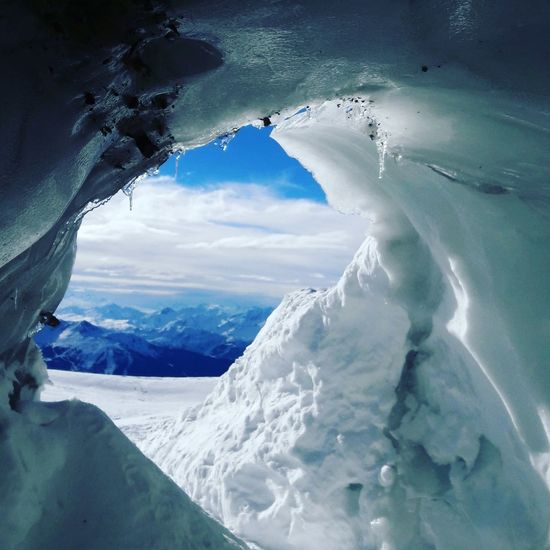 Ice Beauty In Nature Cold Temperature Day Extreme Weather Frozen Glacier Ice Landscape Mountain Nature No People Outdoors Physical Geography Scenics Sky Snow Snowcapped Mountain White Color Winter