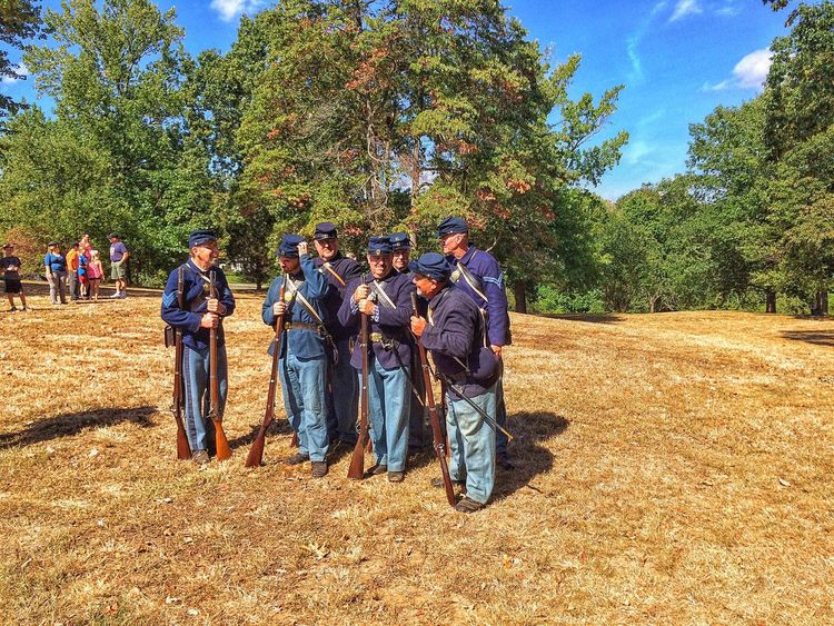 Civil War reenactment at Booth Park, Stratford CT Full Length Togetherness Reenactment Spectator Civil War Civil War Re-enactments Connecticut Soldier Tree Lifestyles Men Friendship Bonding Person Sky Field Day Outdoors Looking