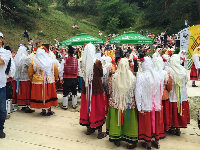 Bulgaria Bulgarian Folklore Bulgarian Clothes Bulgarian Traditions Bulgarian Singer Koprivshtica Large Group Of People Festival Folklore
