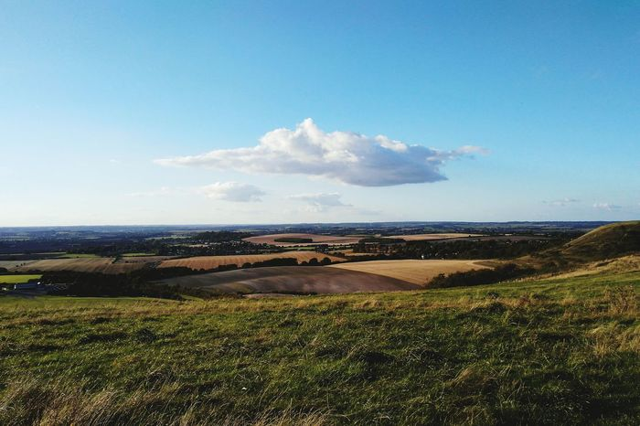 Landscape Outdoors Scenics Blue Nature Dunstable Downs Lonely Cloud Miles Away Breathing Space