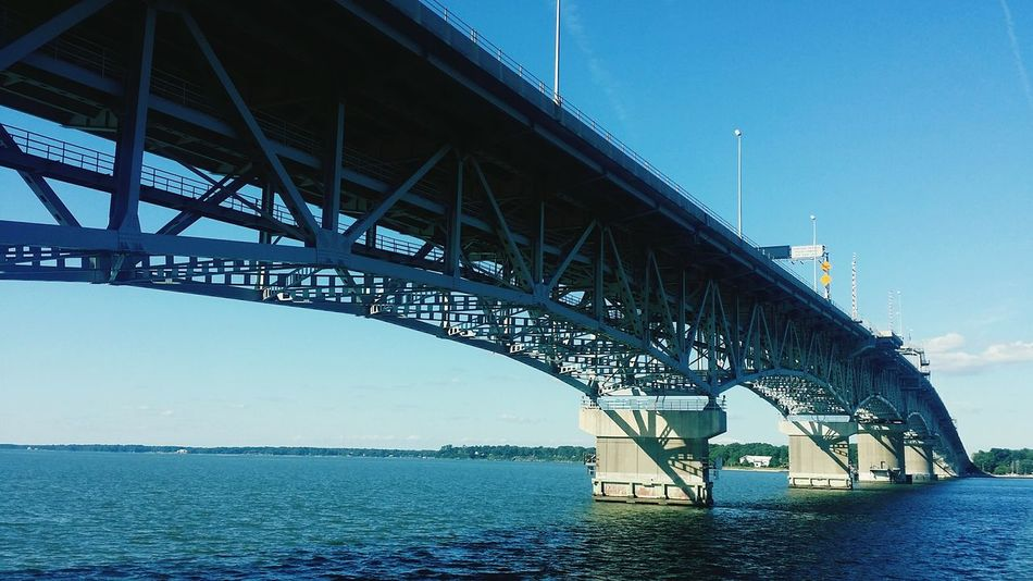 Historic area of Yorktown, Virginia Yorktown, Virginia First Eyeem Photo Bridge Bridges Bridgesaroundtheworld Under The Bridge Yorktown Virginia Ocean View Shore Ocean Beach Yorktown Harbor Water Shoreline Ocean
