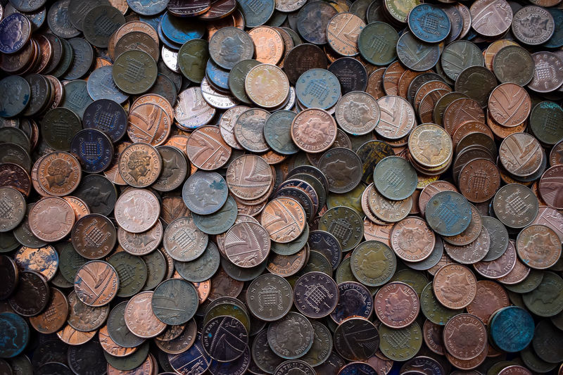 Money Money Money Penny Pound Stack Abundance Change Close-up Clump Clump-forming Coin Currency Day Finance Full Frame Heap Large Group Of Objects Money No People Pile Plenty Savings Stack Wealth
