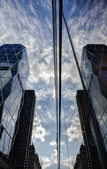 Reflected Clouds And Buildings Early Evening Reflections Architecture Reflective Architecture Glass Architecture Perspective