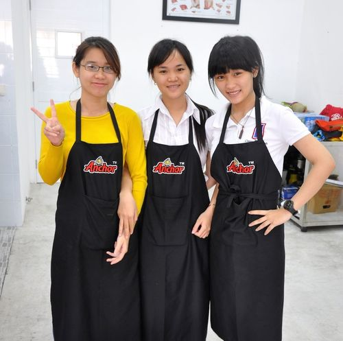 The Pastry-Ninjas of CFF ... Thank You Ladies fir an awesome day ... Saigon Vietnam #indochina Fonterra #anchor #baking #pastry #training
